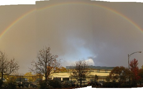 rainbow over school.JPG